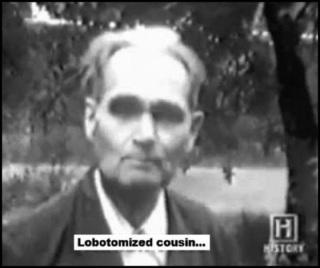Fake Hess Lobotomized cousin BW