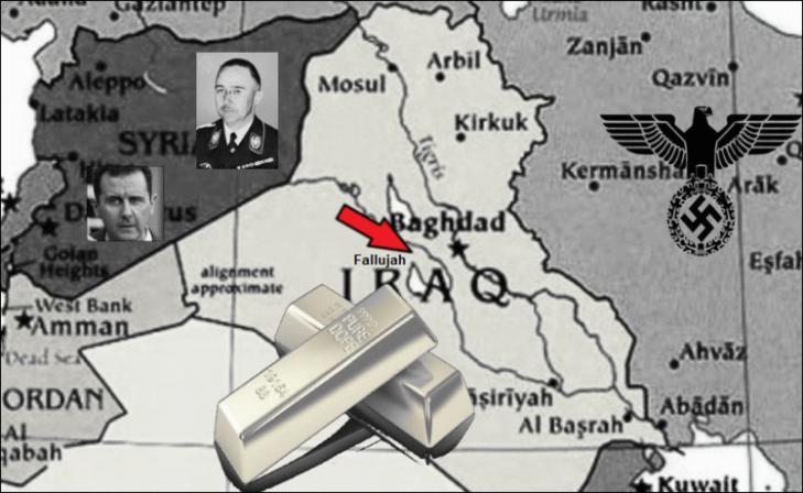 Iraq gold Assad lower color LARGE Red Arrow Fallujah SMALLER BORDER