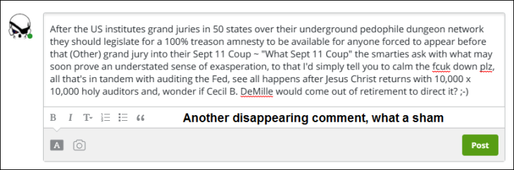 RT COMMENT DISAPPEARING ~ AUDIT THE Fed