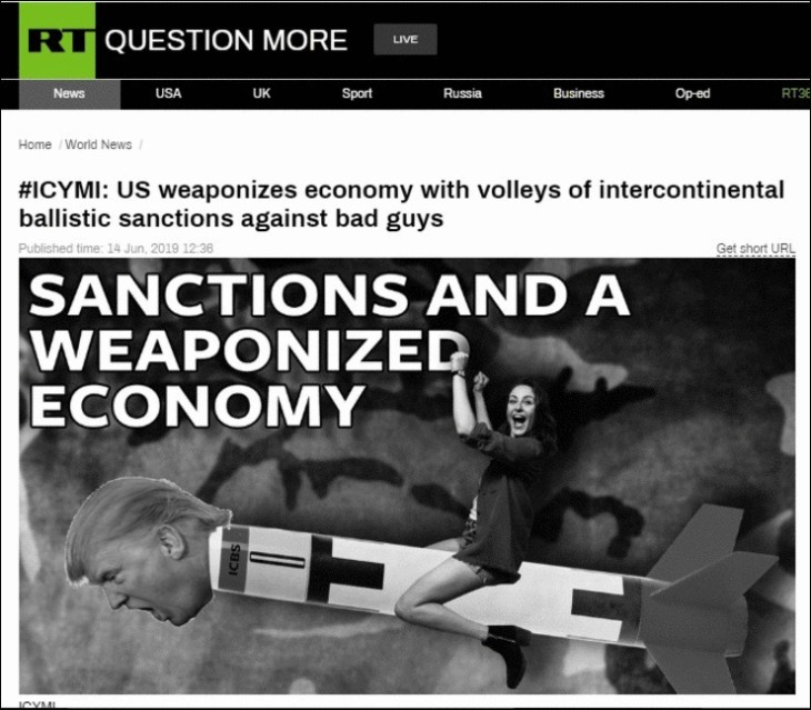 RT SANCTIONS DISAPPEARING COMMENT Trump MIssile
