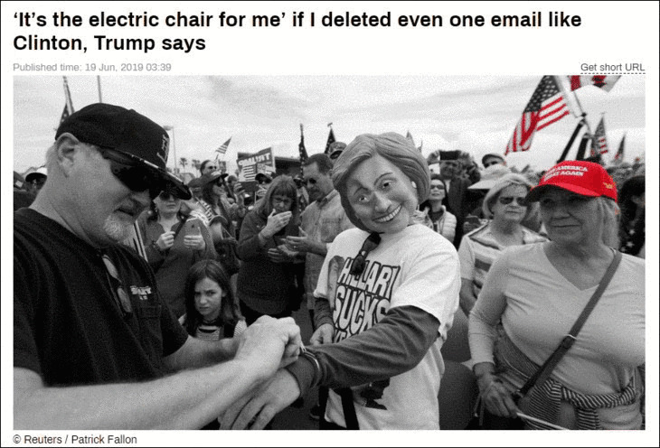 RT TRUMP Hillary electric chair grey red