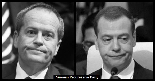 Shorten and Medvedev Prussian Progressive Party 600