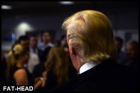 Trump from behind FAT HEAD