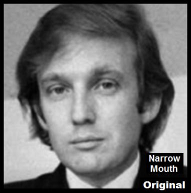 Trump head original SMALLISH NARROW MOUTH
