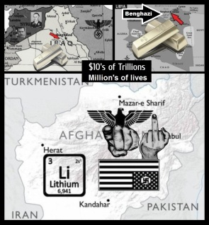 Iraqi Libyan gold Afghan Lithium 10's of trillions