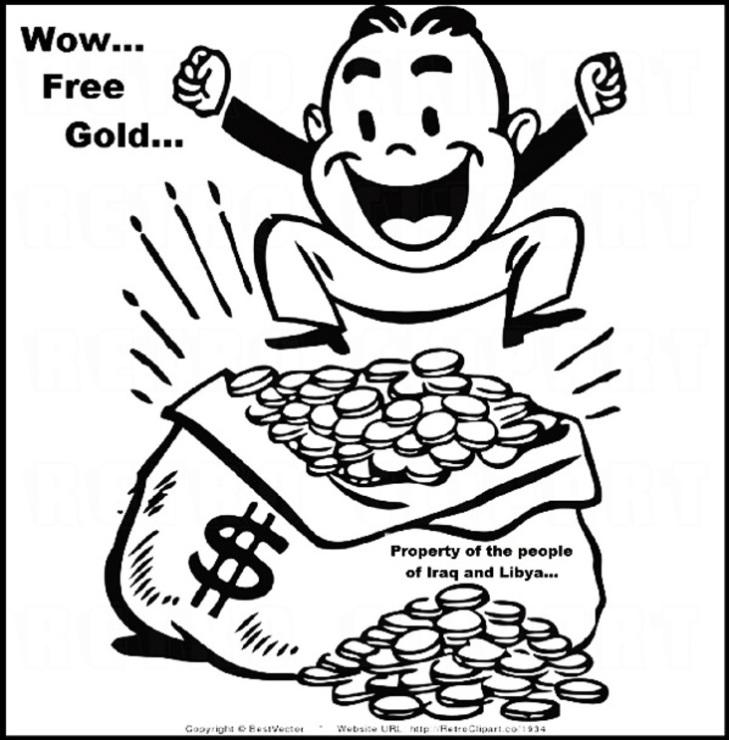 Libyan x Iraqi free gold LARGE