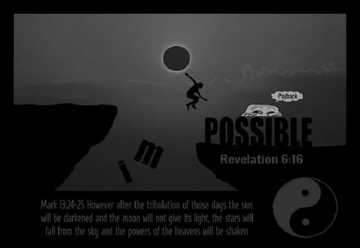 Man jumping the impossible ~ Payback Mark 13 Rev 6-16 Yin Yang LARGER