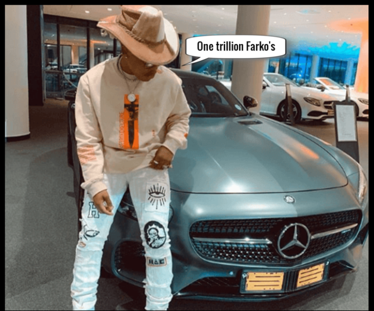 Rapper with Mercedes ONE TRILLION FARCO'S cropped bottom