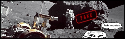Moon Apollo rocks everywhere Grin Guy large FAKE