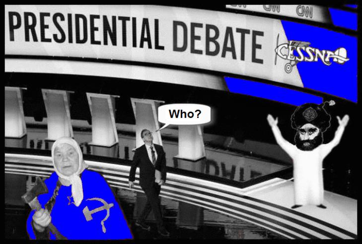 Presidential Debate Trump Russian mother Islam Cessna BLUE CUT