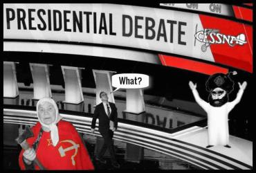 Presidential Debate Trump Russian mother Islam Cessna RED-CUT