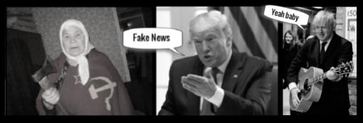 Russian lady fake Trump fake news Johnson yeah baby