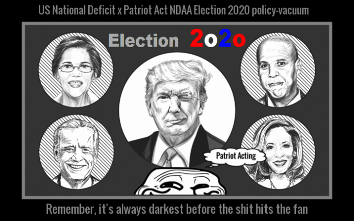 Trump ELECTION 2020 Patriot Acting GRIN GUY LARGE