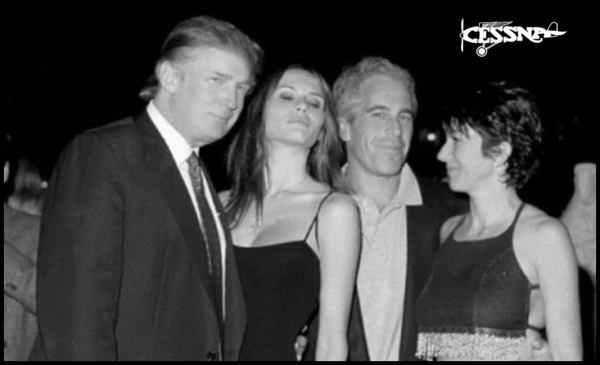 Trump twin Mellania x Epstein BW Large 600 CESSNA