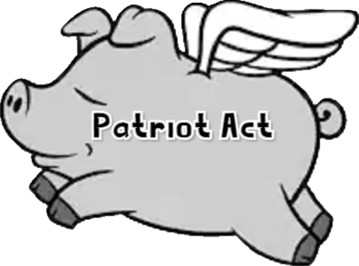 Flying Patriot Act pig LARGE Trans