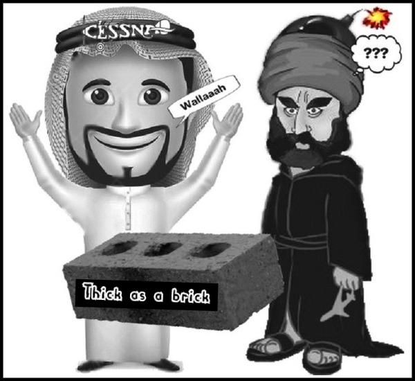 Islam Muslim terrorists 600 THICK AS A BRICK