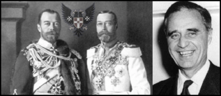 Prescott Czar King George Prussian Eagle LARGE BW