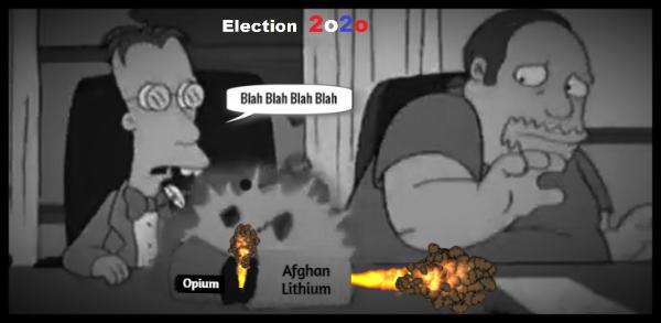Simpsons Election 2020 Afghan Opium Lithium sarcasm 600
