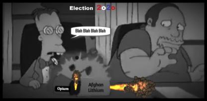 Simpsons Election BETTER DARKER 2020 Afghan Opium Lithium sarcasm 600