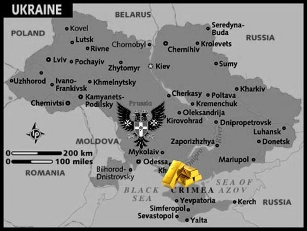 AAA Map_of_ukraine Nazi Gold PRUSSIAN EAGLRE