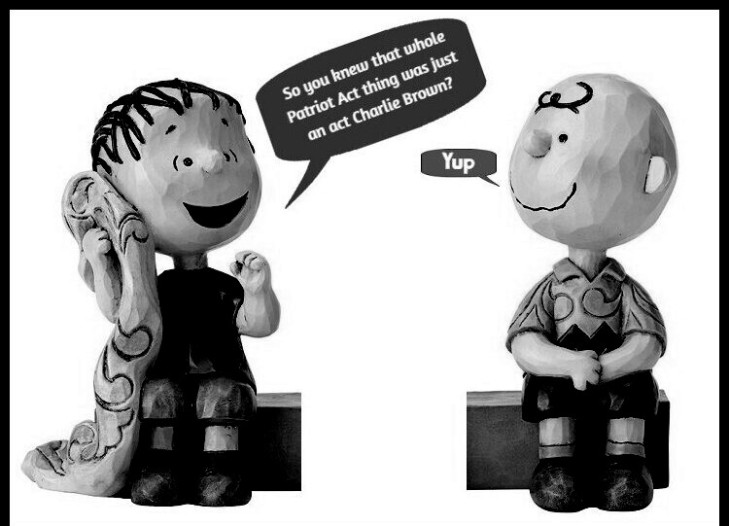 Charlie Brown Patriot Act CROPPED BOTTOM BW