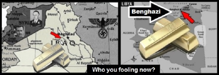 Iraq Libya BILLIONS IN GOLD who you fooling now LARGE