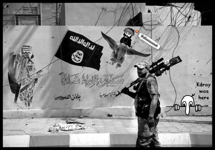 Islamic graffiti ISIS