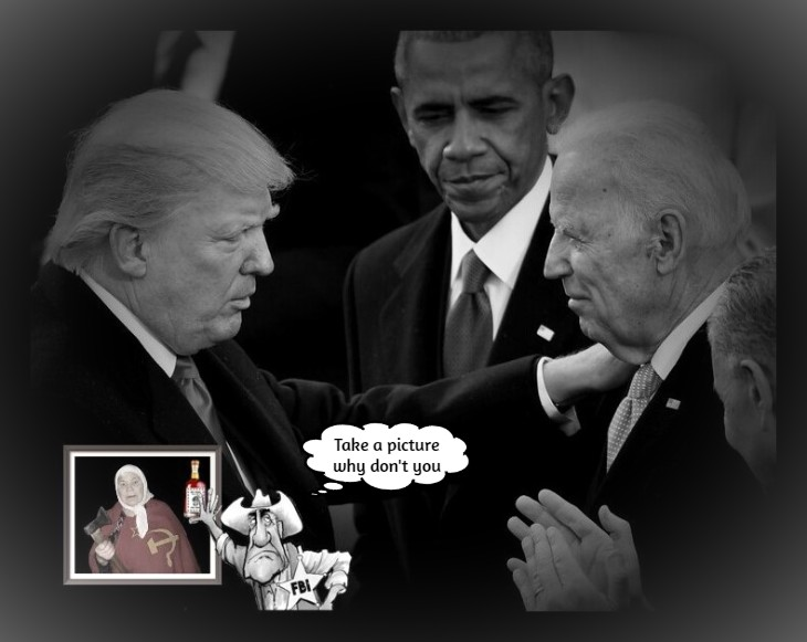 Trump Biden Obama and Russian Lady AND MUELLER