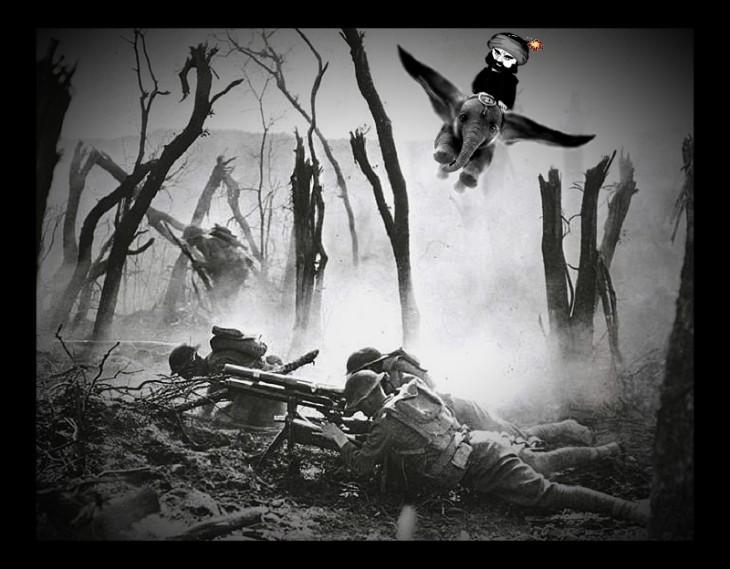 World War One battle trees shattered DUMBO 730