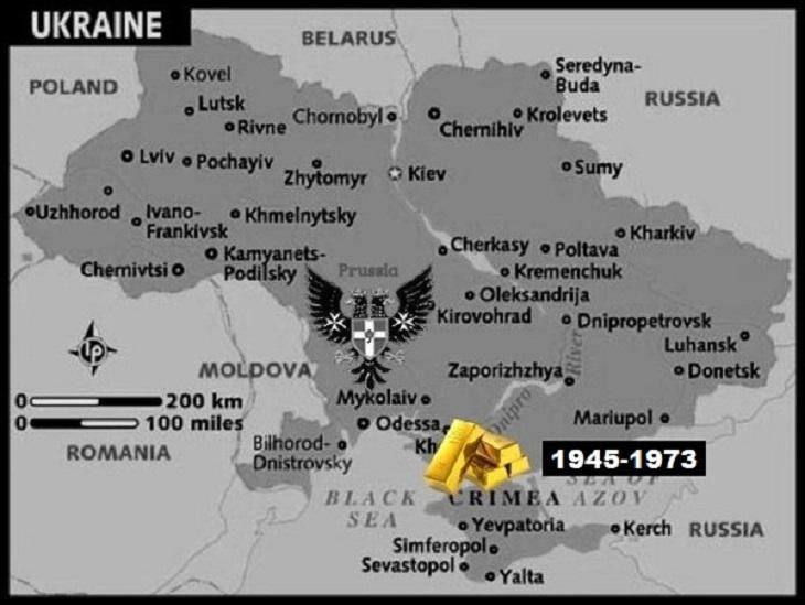 AAA Map_of_ukraine Nazi Gold PRUSSIAN EAGLe 1945-1973 LARGE
