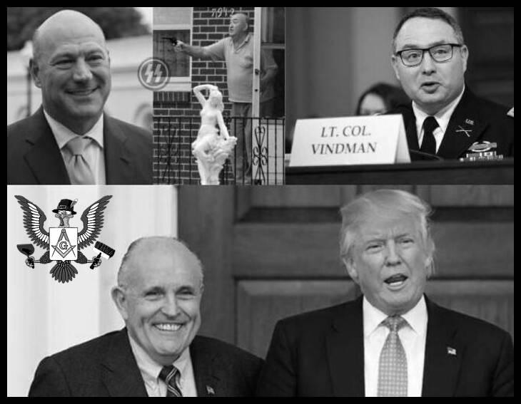 BETTER Cohn and Kolnofer Michael SS Vindman Giuliani Faux Trump Masonic turkey