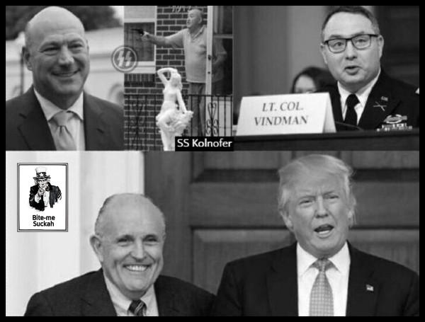 Cohn Kolnofer SS Vindman Giuliani Faux Trump 600