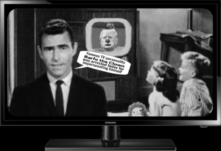 AAA Trump BARFO THE CLOWN arrested _ Rod Serling 730 NOT TRANS