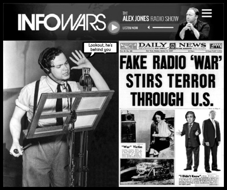 Best better Quality Orson welles war of the worlds LOOKOUT HE'S BEHIND YOU NEWSPAPER HEADLINE 730 BORDER