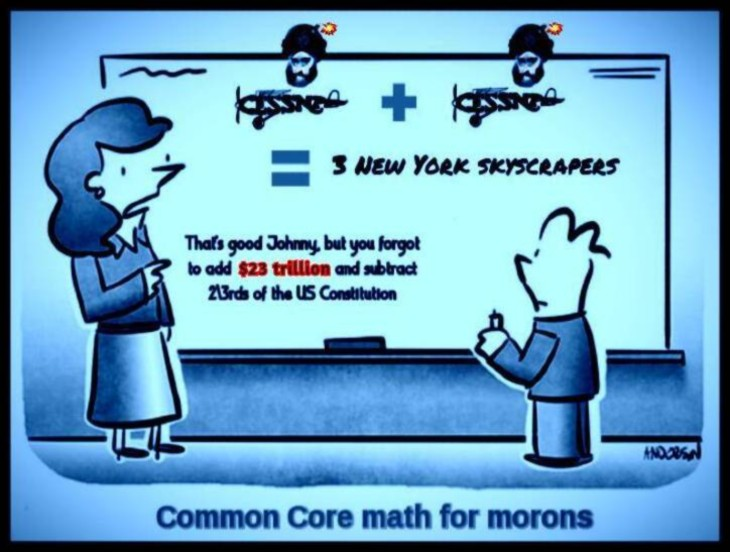 Common core math for morons ~ One plus one equals three Johnny (2)