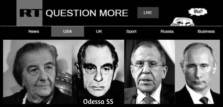 Golda Meir Odessa SS Kutschmann Lavrov Putin 730 BORDER RT Grin guy