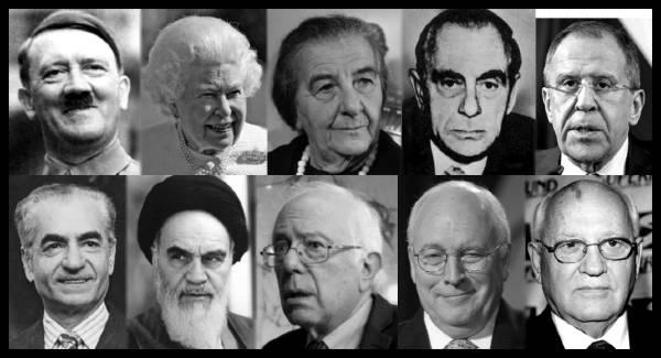 hitler-queen-golda-meir-kutschmann-lavrov-shah-ayatollah-sanders-cheney-gorbechev-border-600 MQ