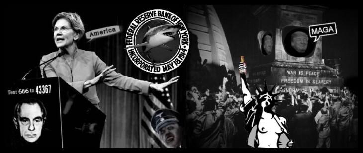 Elizabeth Warren Kutschmann Trump Nazi MAGA Lady Liberty 730 BORDER