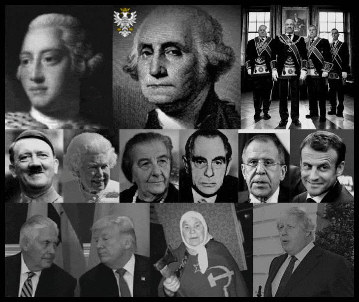 OPT king-george-washington-masonic-rats-hitler-queen-golda-meir-kutschmann-lavrov-faux-trump-johnson-etc MQ