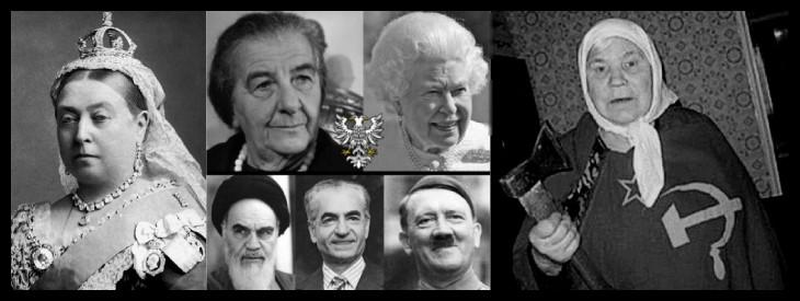 Queen_Victoria Golda Meir Hitler Ayatollah Shah 730 BORDER MQ