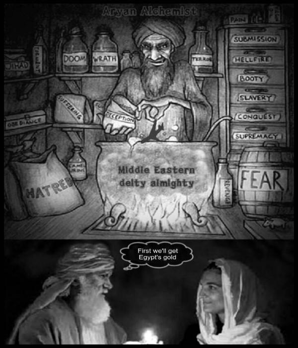 Better Aryan Alchemist Middle Eastern deity almighty JET Abram Sarah Egypt's gold 600