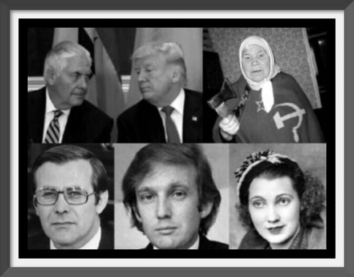 AAA (Better) Fake Trump real Trump mother and father 730 THICK BORDER edit + picture frame
