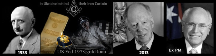 NAZI GOLD Ukraine (Prussian Helmet) Black Rothschild Iron Curtain ODD SIZE Howard 730